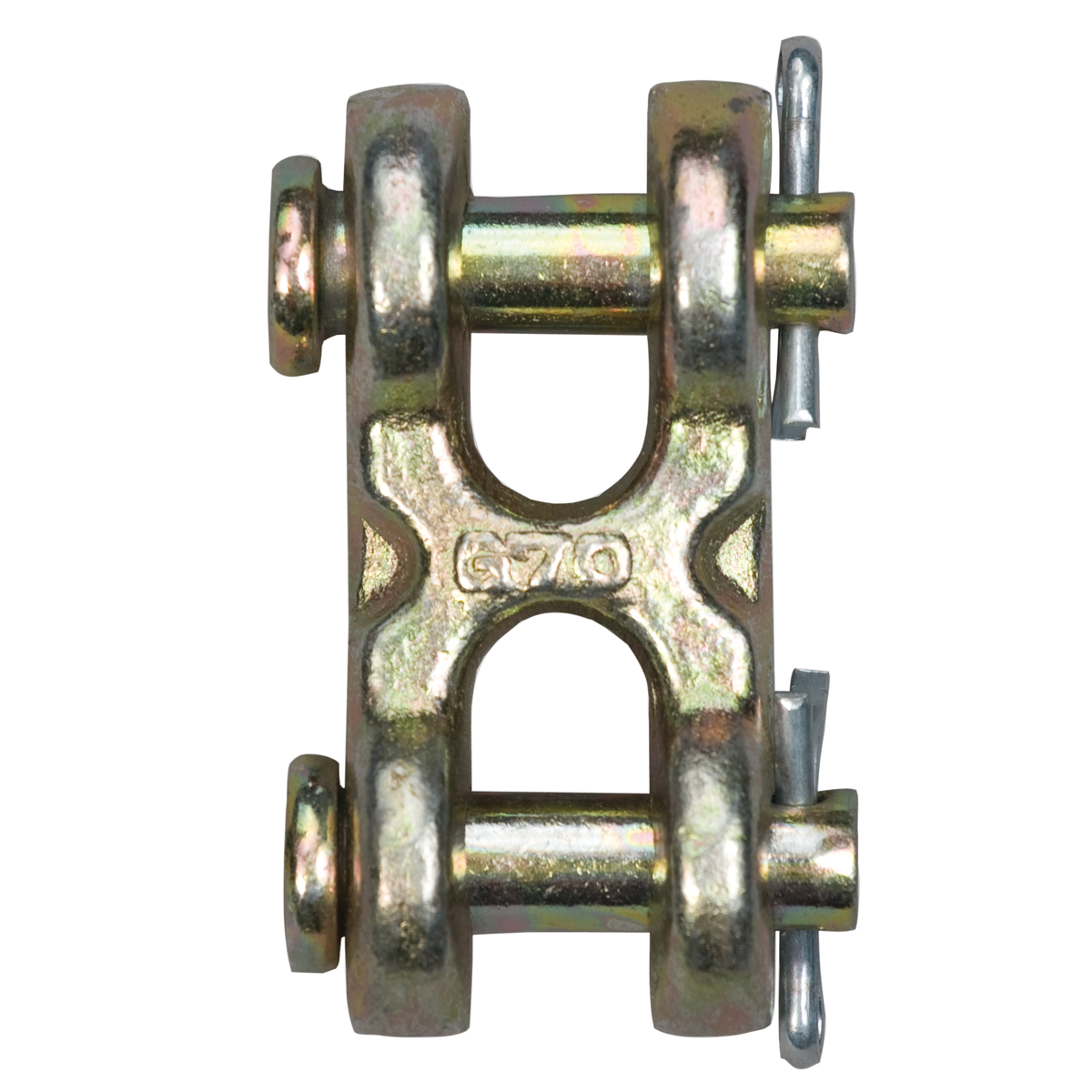 Double Clevis Chain Midlink* (Gr. 70, gold chromate)