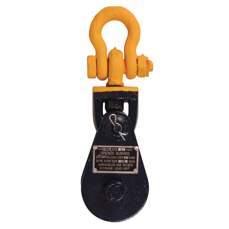 Snatch Block with Shackle, forged steel