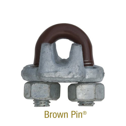 Wire Rope Clips Brown Pin® (drop-forged, hot dip galvanized)